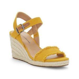 Lucky Brand Marceline Wedge Sandal Heel 6.5 Yellow